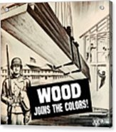 Wood Joins The Colors - Ww2 Acrylic Print