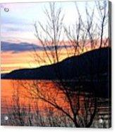 Wood Lake Sunset Acrylic Print