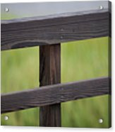 Wood Railing Over The Marsh Acrylic Print