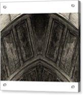 Wood Stone In Sepia Acrylic Print