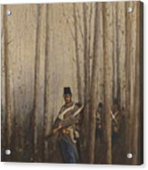 Wood With Soldiers Acrylic Print