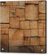 Woodblocks Acrylic Print