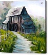 Wooden Barn Dreamy Mirage Acrylic Print