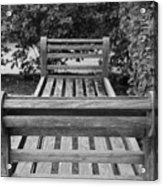 Wooden Bench Acrylic Print