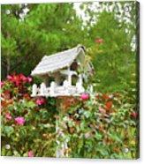 Wooden Bird House On A Pole 3 Acrylic Print