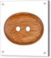 Wooden Button Acrylic Print