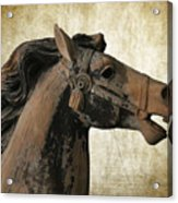 Wooden Carousel Horse Acrylic Print