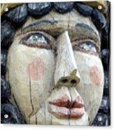 Wooden Carving In Santa Fe 8 Acrylic Print