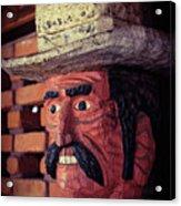 Wooden Cowboy Acrylic Print