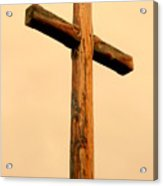 Wooden Cross Acrylic Print by Cindy Wright