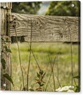 Wooden Fence Post. Acrylic Print