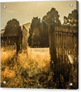 Wooden Fence With An Open Gate Acrylic Print