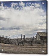 Wooden Fenced Corral Out West Acrylic Print