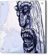 Wooden Man Acrylic Print
