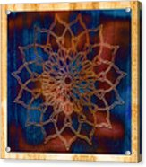 Wooden Mandala Acrylic Print