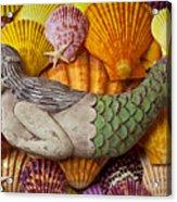 Wooden Mermaid Acrylic Print by Garry Gay
