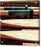 Wooden Oar Pattern Acrylic Print