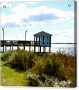 Wooden Pier With Pavilion Acrylic Print