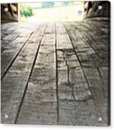 Wooden Road Acrylic Print
