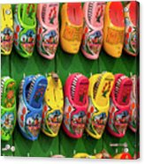 Wooden Shoes From Amsterdam Acrylic Print