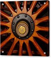 Wooden Spokes Acrylic Print