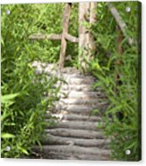 Wooden Stairs Acrylic Print