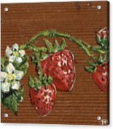 Wooden Strawberries Acrylic Print