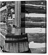 Wooden Water Barrel Acrylic Print