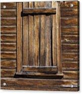 Wooden Window Acrylic Print