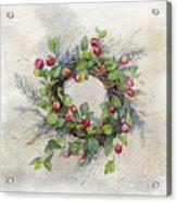 Woodland Berry Wreath Acrylic Print