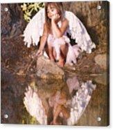 Woodland Fairy Acrylic Print by Cindy Singleton