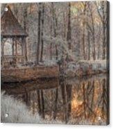 Woodland Gazebo Acrylic Print
