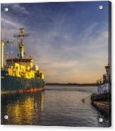 Woods Hole Ship Yard Acrylic Print