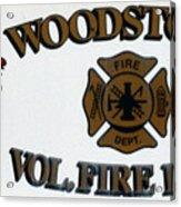 Woodstock Fire Dept Acrylic Print