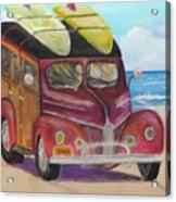 Woody On Beach Acrylic Print