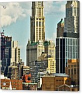 Woolworth Building From Hudson River Acrylic Print