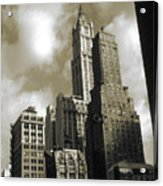 Old New York Photo - Historic Woolworth Building Acrylic Print