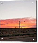 Woomera Sunset Acrylic Print
