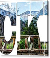 Word Art...the Rockies Acrylic Print