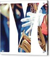 Word Music Red Parade Acrylic Print