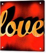 Words Of Love And Retro Romance Acrylic Print