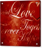 Words Of Love Acrylic Print