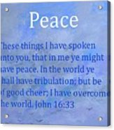 Words Of Peace Acrylic Print