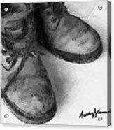 Work Boots Acrylic Print