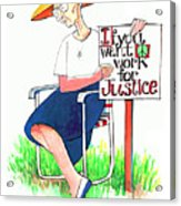 Work For Justice - Mmwfj Acrylic Print