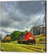 Work Horse Trains 7 Madison Georgia Locomotive Art Acrylic Print