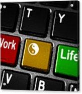 Work Life Balance Acrylic Print