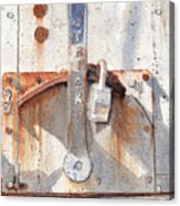 Work Trailer Lock Number One Acrylic Print