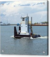 Workboat At Port Canaveral In Florida Acrylic Print