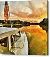 Workboats On San Damingo Creek Acrylic Print